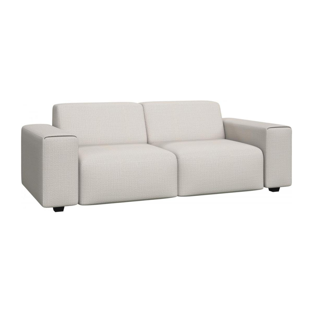 3 seater sofa in Fasoli fabric, snow white n°1