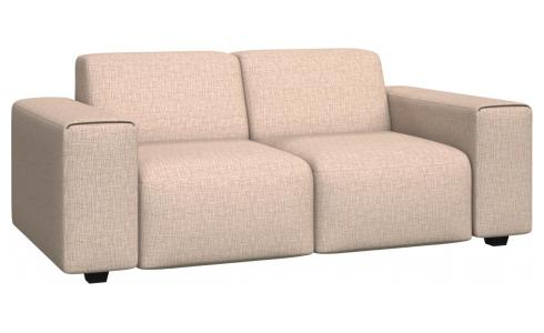 2 seater sofa in Ancio fabric, nature