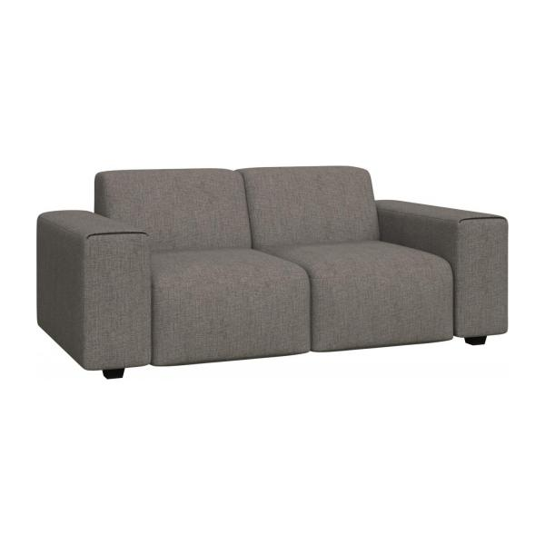 posada 2 sitzer sofa aus stoff grau meliert habitat. Black Bedroom Furniture Sets. Home Design Ideas
