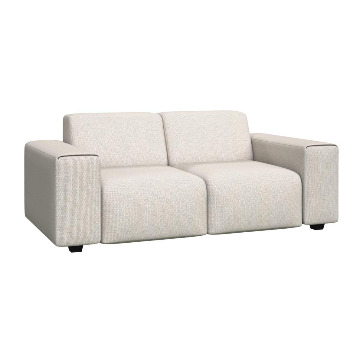 2 seater sofa in Fasoli fabric, snow white n°1