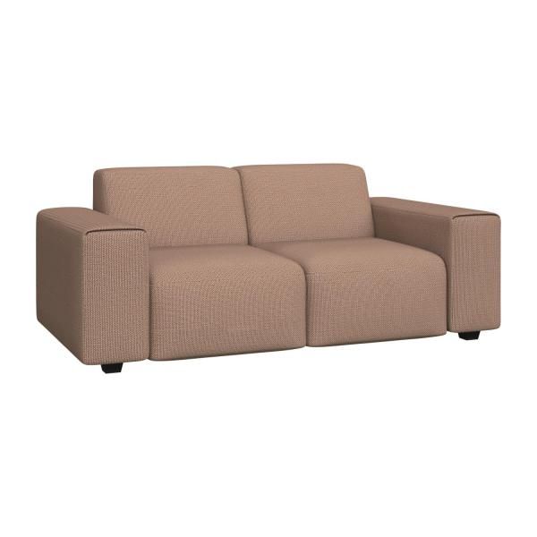 2 seater sofa in Fasoli fabric, jatoba brown