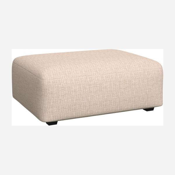 Footstool in Ancio fabric, nature