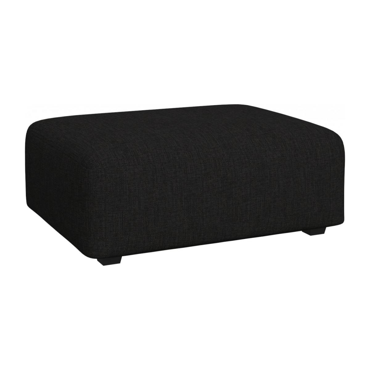 Footstool in Ancio fabric, nero n°1