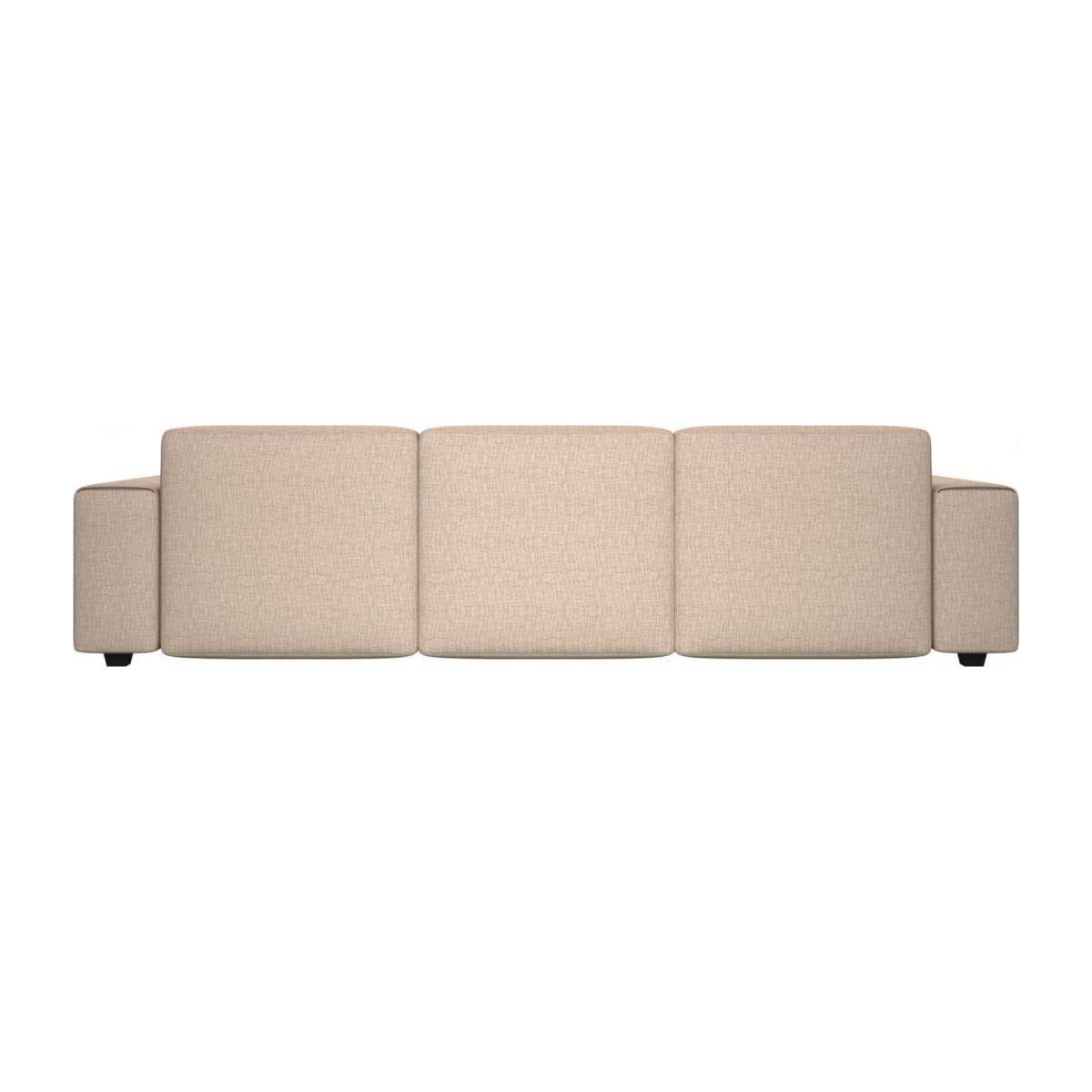 3 seater sofa with chaise longue on the right in Ancio fabric, nature n°3