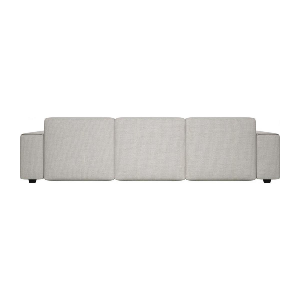 3 seater sofa with chaise longue on the right in Fasoli fabric, snow white n°3