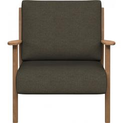 Armchair in Lecce fabric, slade grey