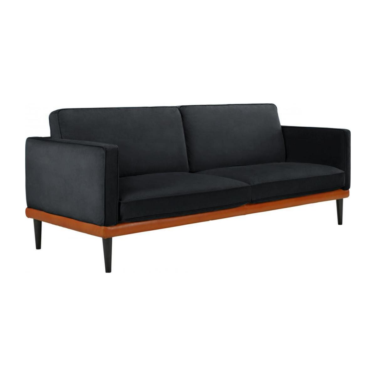 giorgio 3 sitzer sofa aus samt grau und basis aus. Black Bedroom Furniture Sets. Home Design Ideas