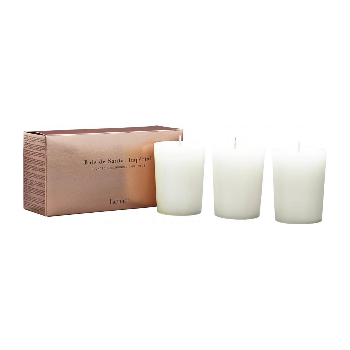 Refill for 3 medium Sandalwood scented candles, 3 x 150 g n°1