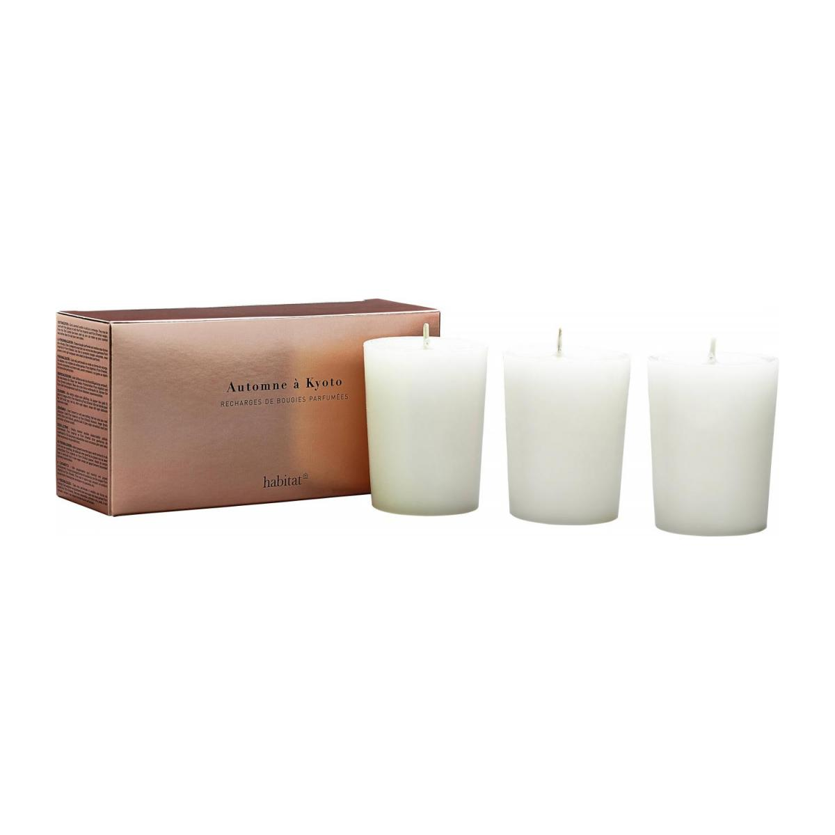 Refill for 3 Kyoto scented candles, 3 x 150 g n°1