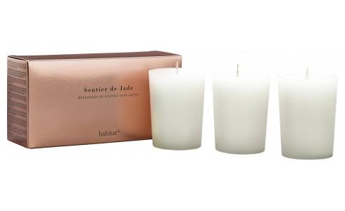 Refill for 3 Jade scented candles, 3 x 150 g