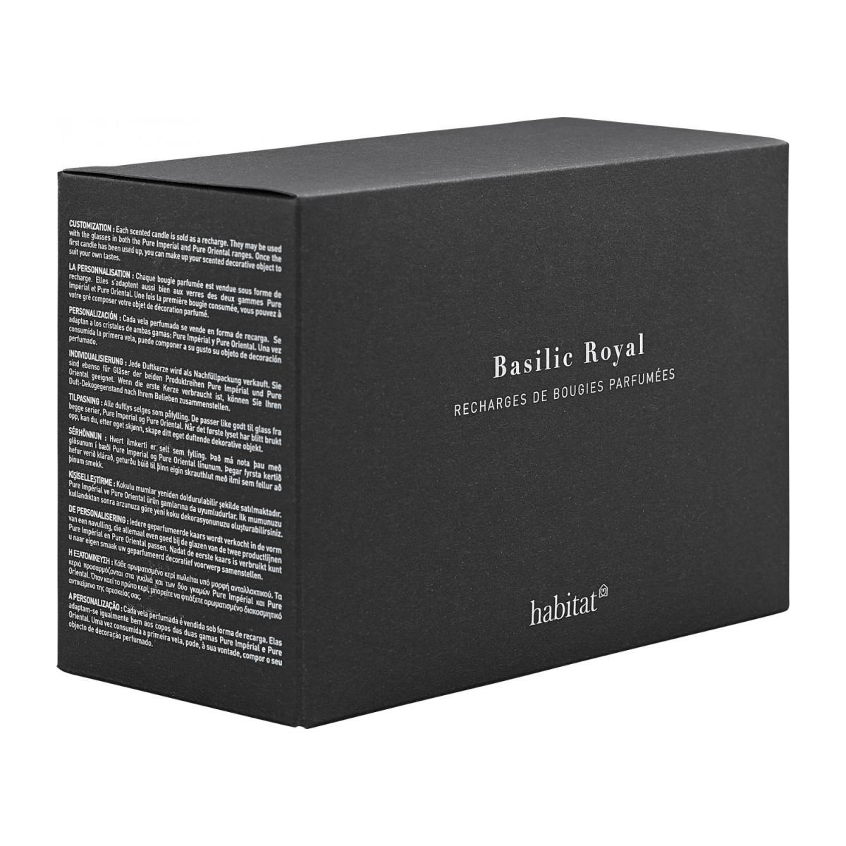 Refill for 2 medium Basil scented candles, 2 x 300 g n°2