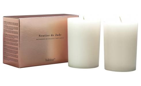 Refill for 2 medium Jade scented candles, 2 x 300 g