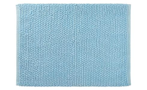 Bath mat made of cotton 50x80cm, blue
