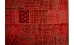 Tapis patchwork rouge