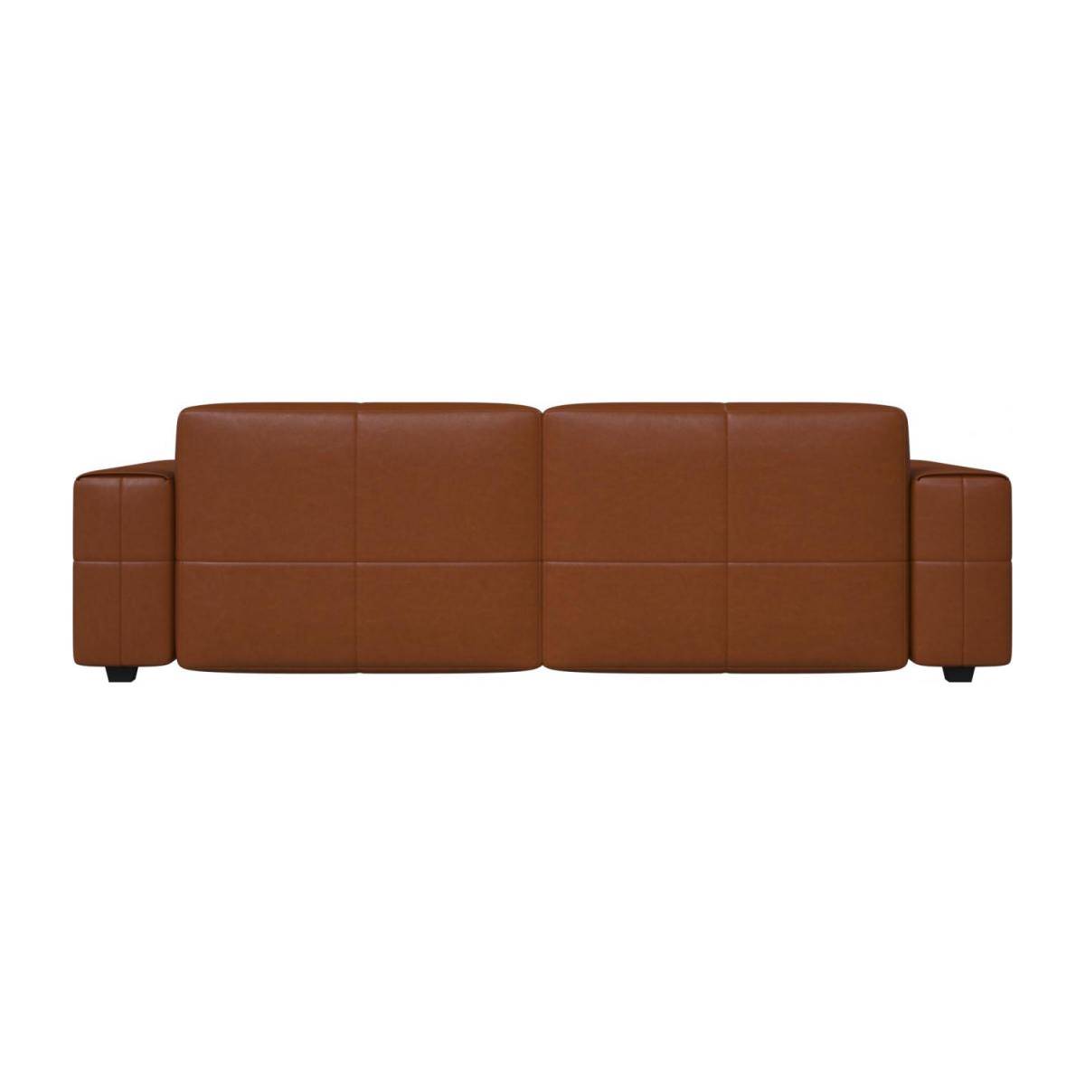 4 seater sofa in Vintage aniline leather, old chestnut n°3
