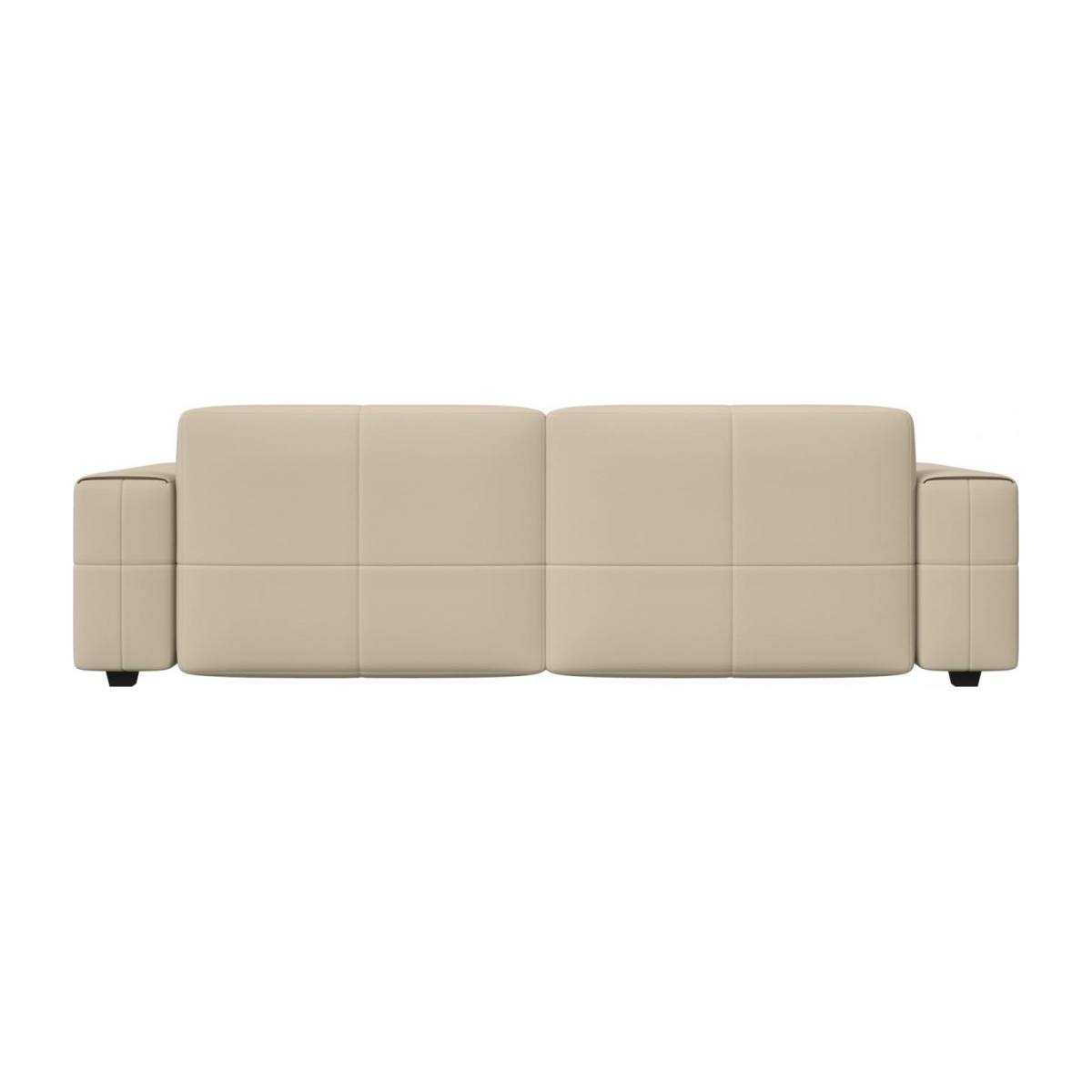4 seater sofa in Savoy semi-aniline leather, off white n°3