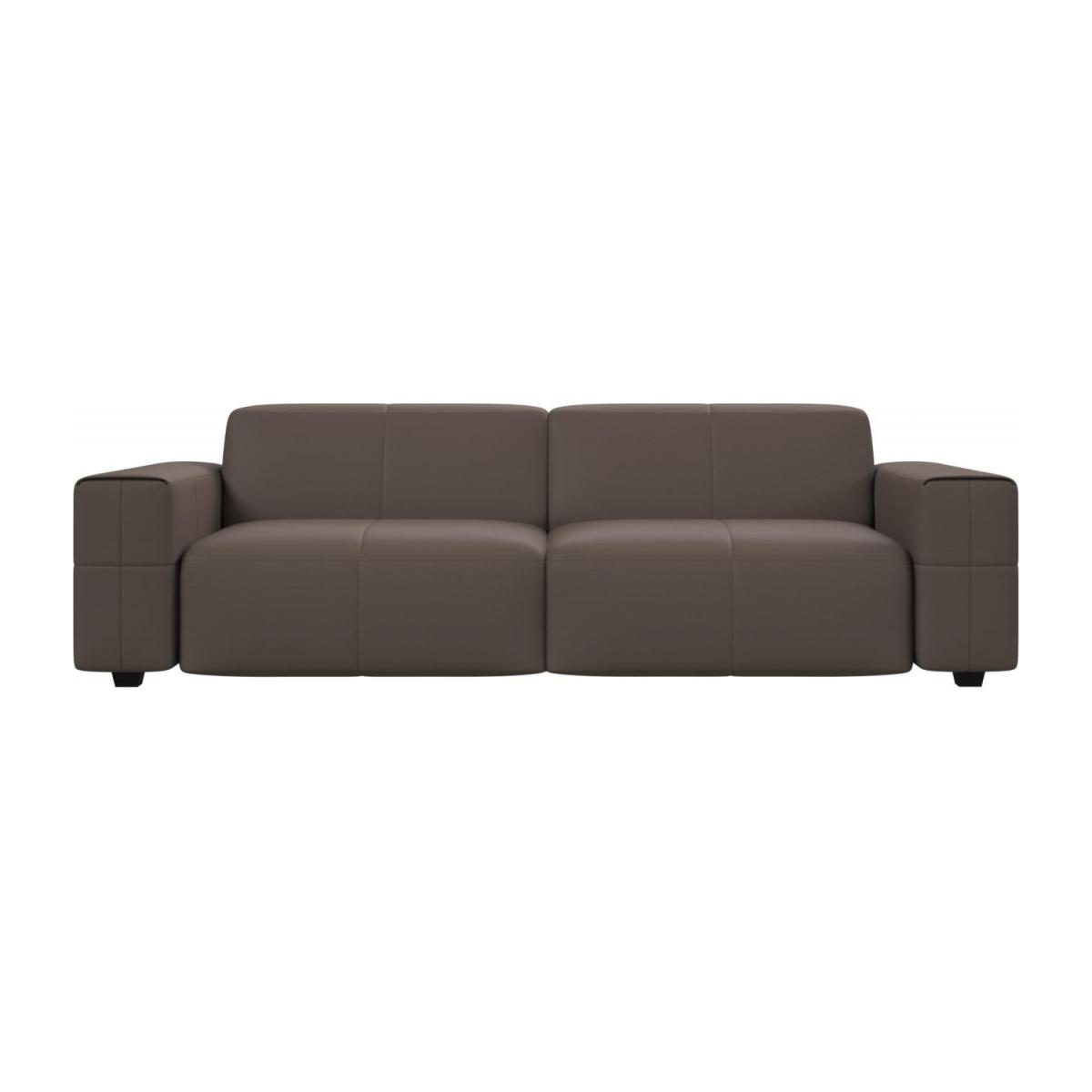 4 seater sofa in Eton veined leather, stone n°2