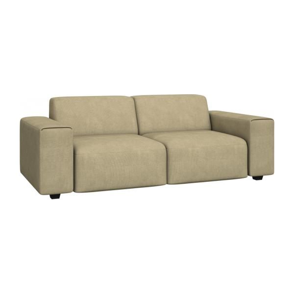 posada 3 sitzer sofa aus stoff gemischtes beige habitat. Black Bedroom Furniture Sets. Home Design Ideas