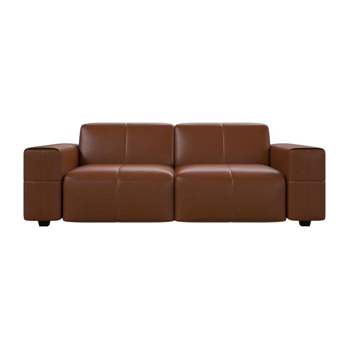 3 seater sofa in Vintage aniline leather, old chestnut n°3
