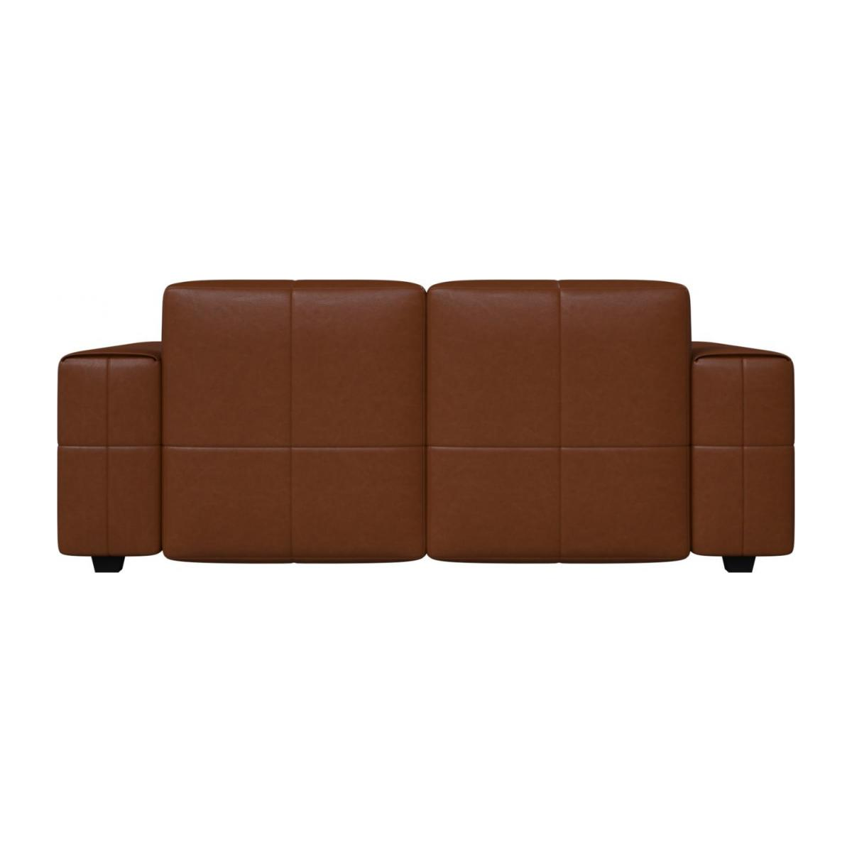 2 seater sofa in Vintage aniline leather, old chestnut n°3