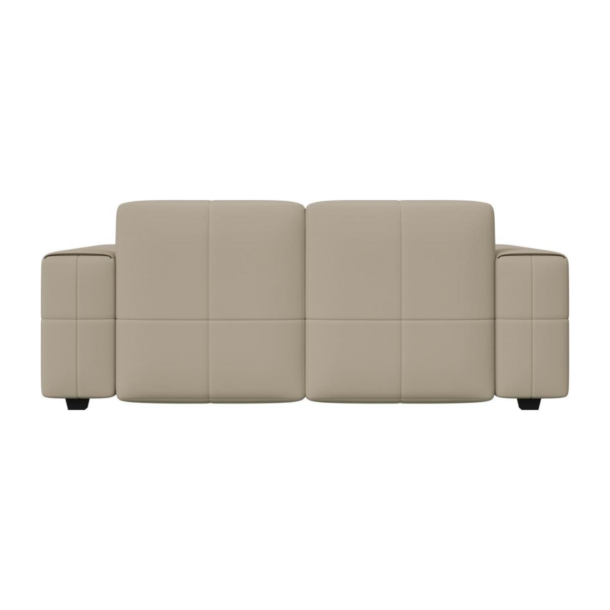 2 seater sofa in Savoy semi-aniline leather, off white n°4