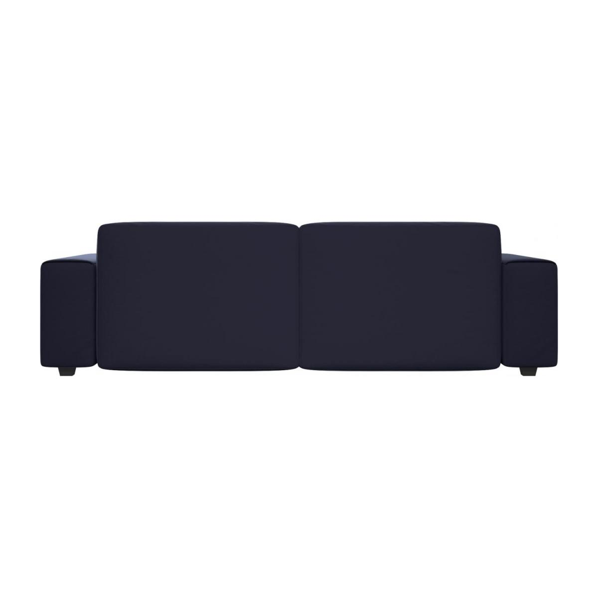 4 seater sofa in Super Velvet fabric, dark blue n°3