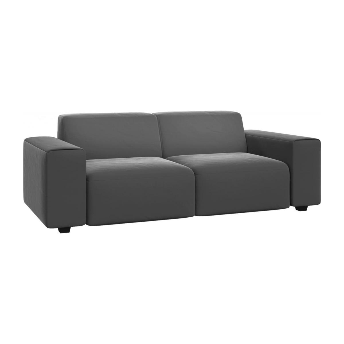 posada 3 sitzer sofa aus samt grau habitat. Black Bedroom Furniture Sets. Home Design Ideas