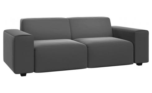 3 seater sofa in Super Velvet fabric, silver grey