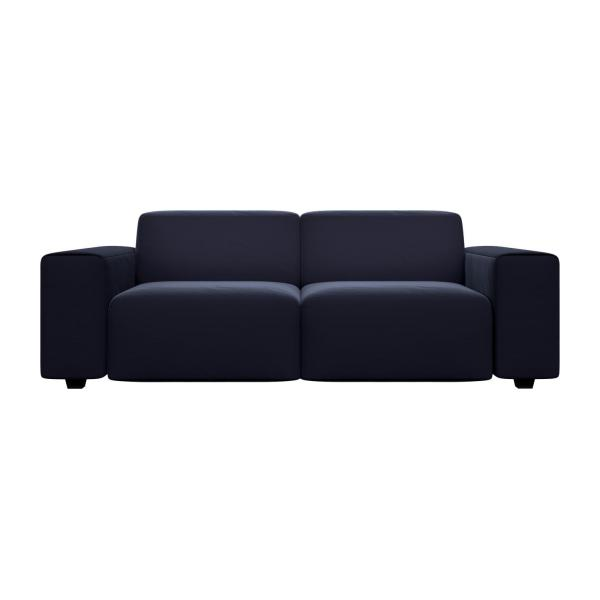 posada 3 sitzer sofa aus samt dunkelblau habitat. Black Bedroom Furniture Sets. Home Design Ideas