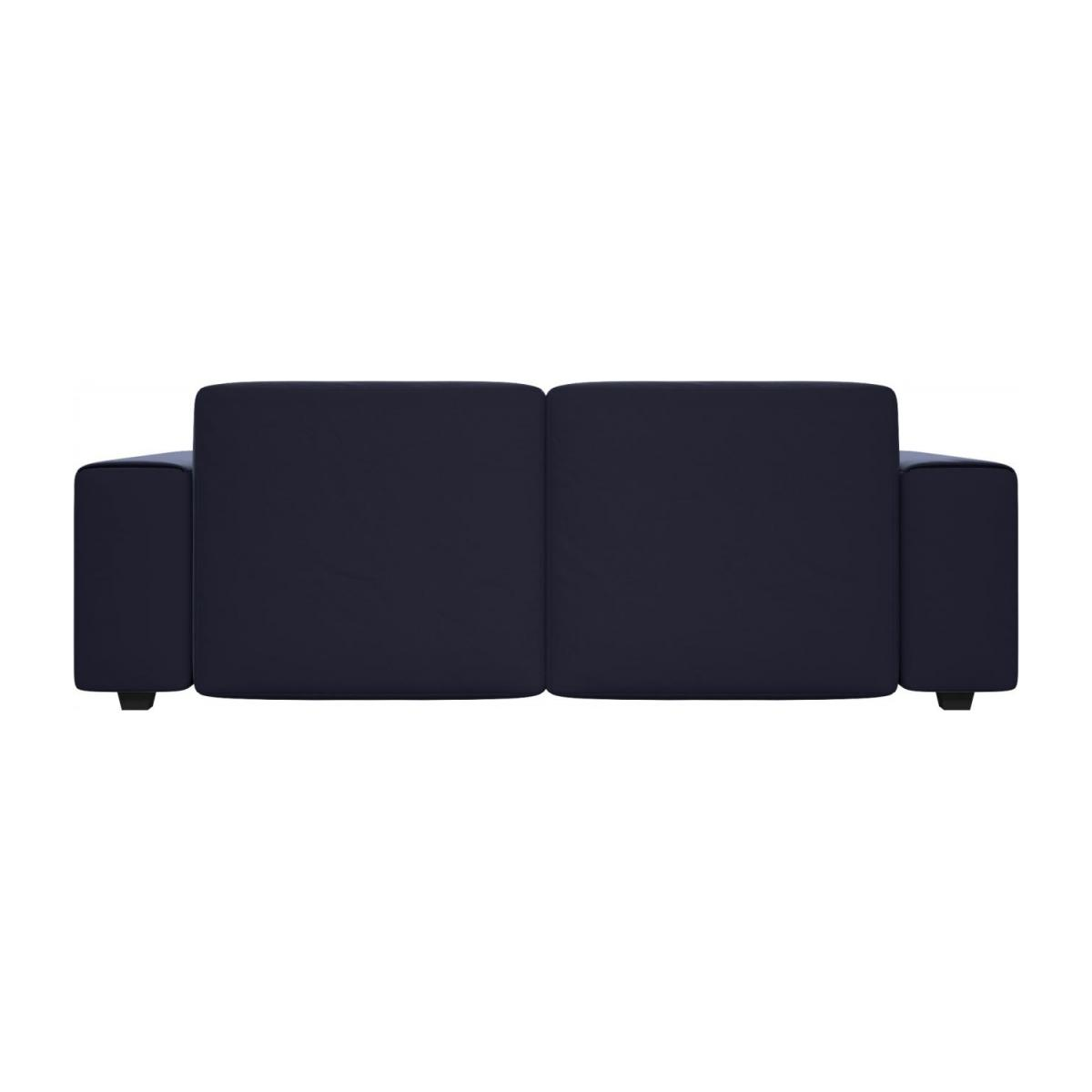 3 seater sofa in Super Velvet fabric, dark blue n°3