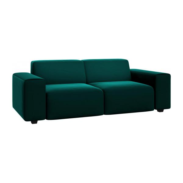 3 seater sofa in Super Velvet fabric, petrol blue