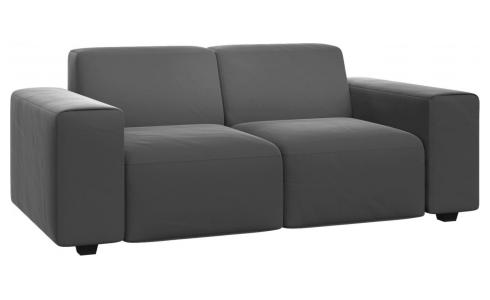 2 seater sofa in Super Velvet fabric, silver grey