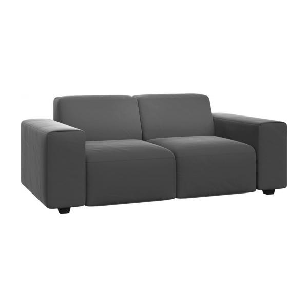 posada 2 sitzer sofa aus samt grau habitat. Black Bedroom Furniture Sets. Home Design Ideas