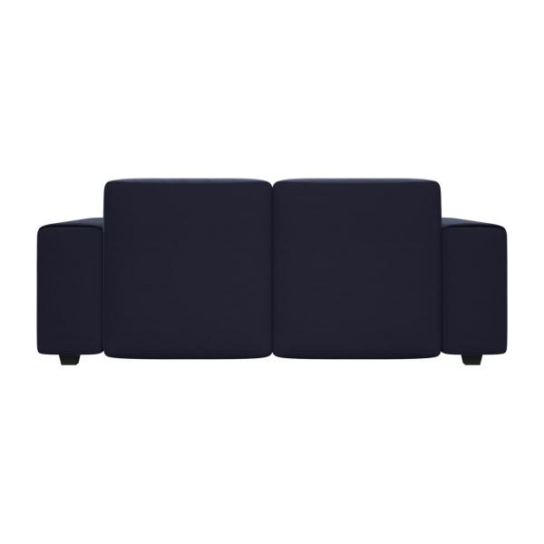 2 seater sofa in Super Velvet fabric, dark blue n°4