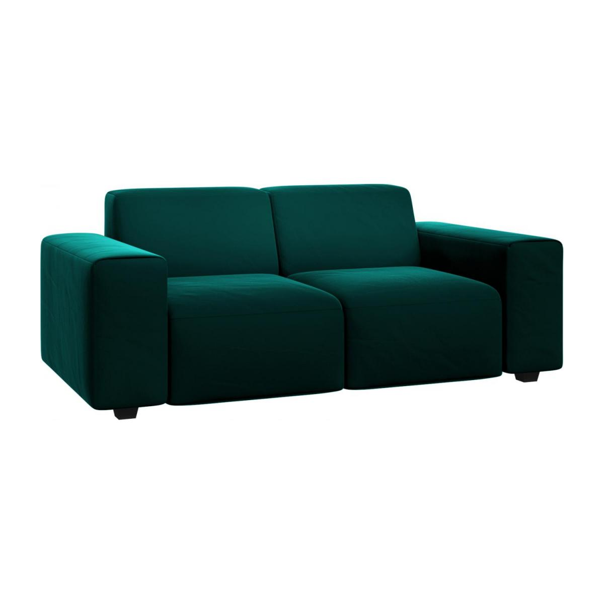 Posada 2 Seater Sofa In Super Velvet Fabric Petrol Blue Habitat
