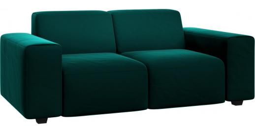 posada 2 sitzer sofa aus samt petrolblau habitat. Black Bedroom Furniture Sets. Home Design Ideas