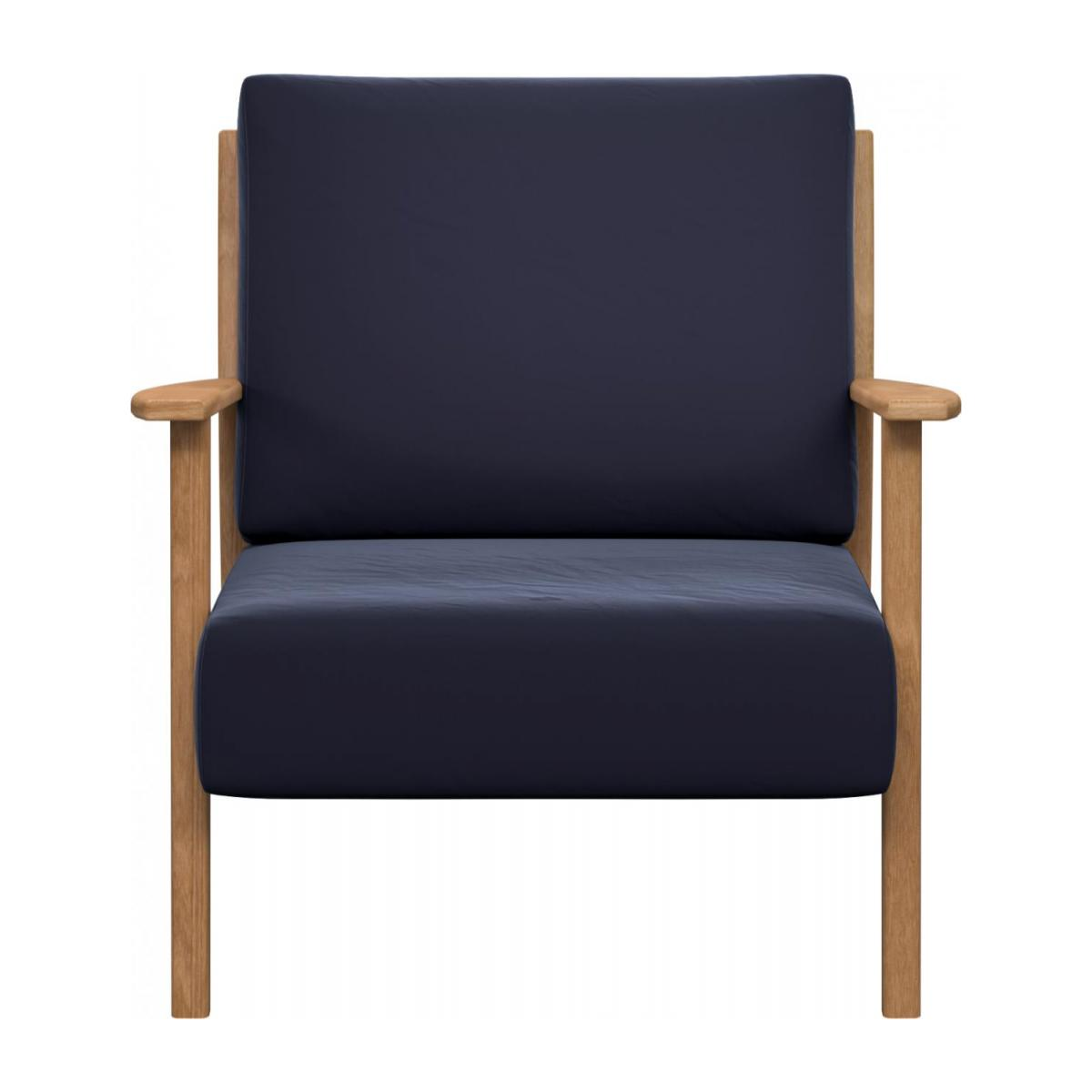 Armchair in Super Velvet fabric, dark blue n°2