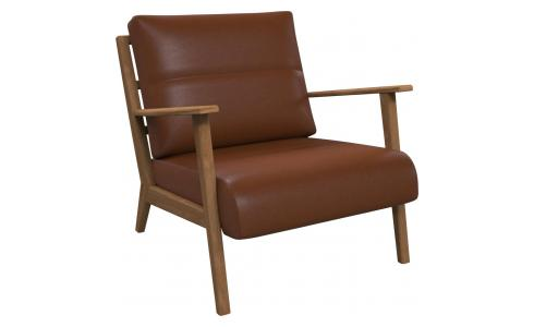 Fauteuil en cuir aniline Vintage Leather old chestnut