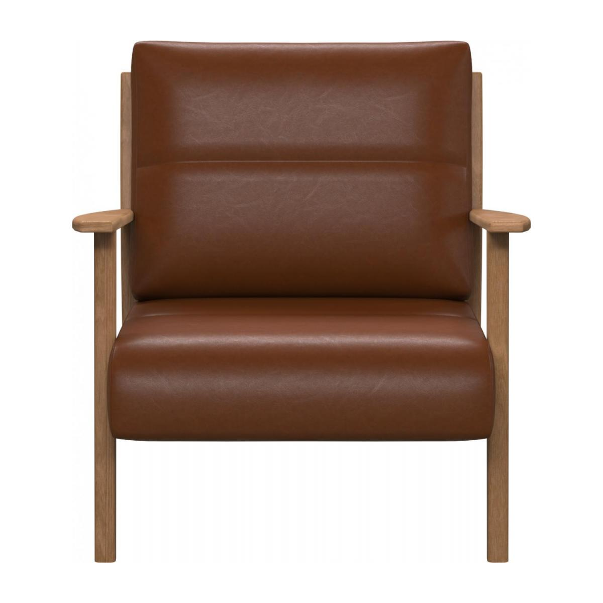 Fauteuil en cuir aniline Vintage Leather old chestnut n°2