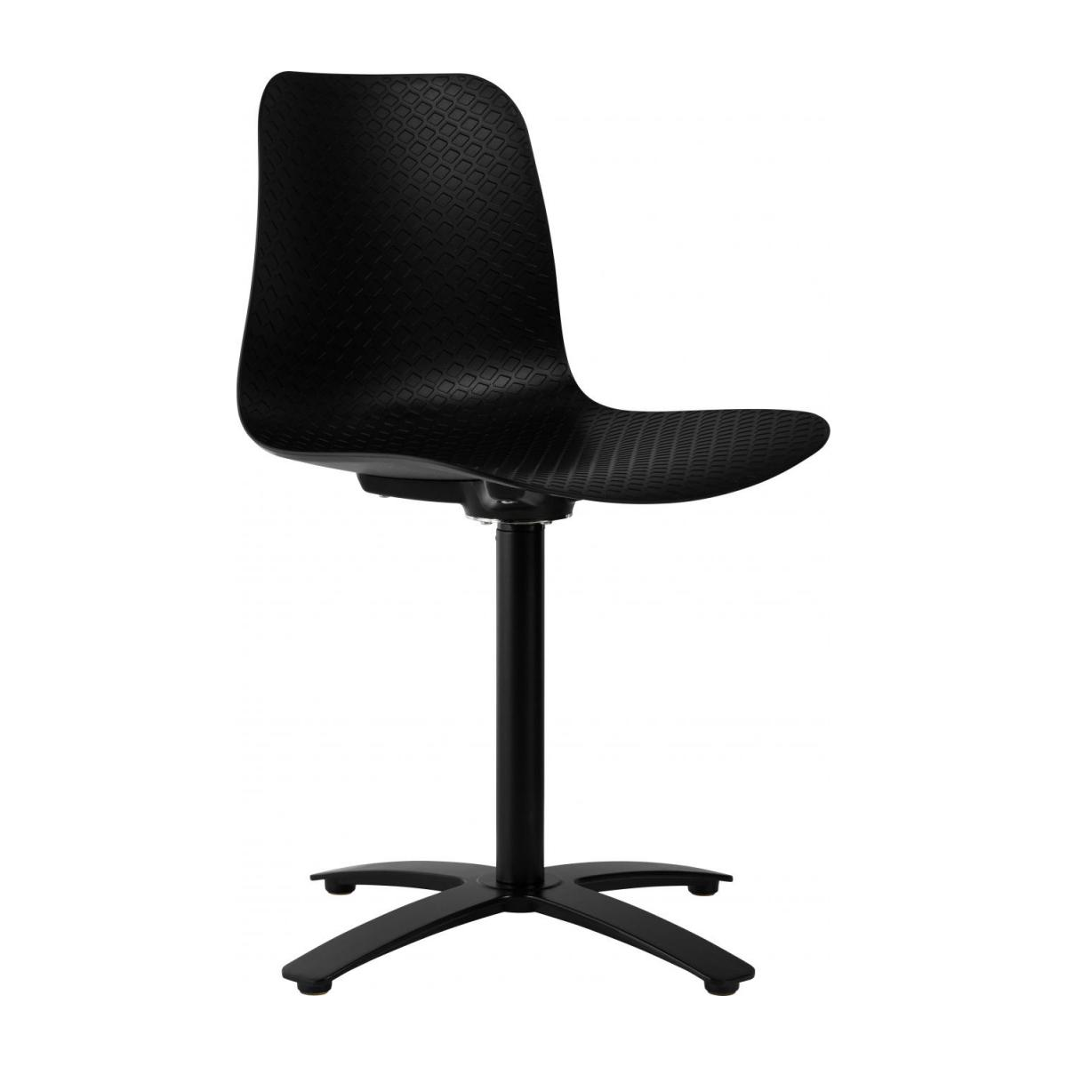 Black office chair in polypropylene n°1
