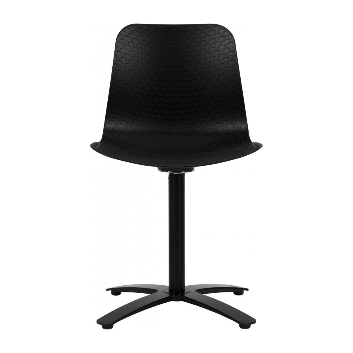 Black office chair in polypropylene n°3