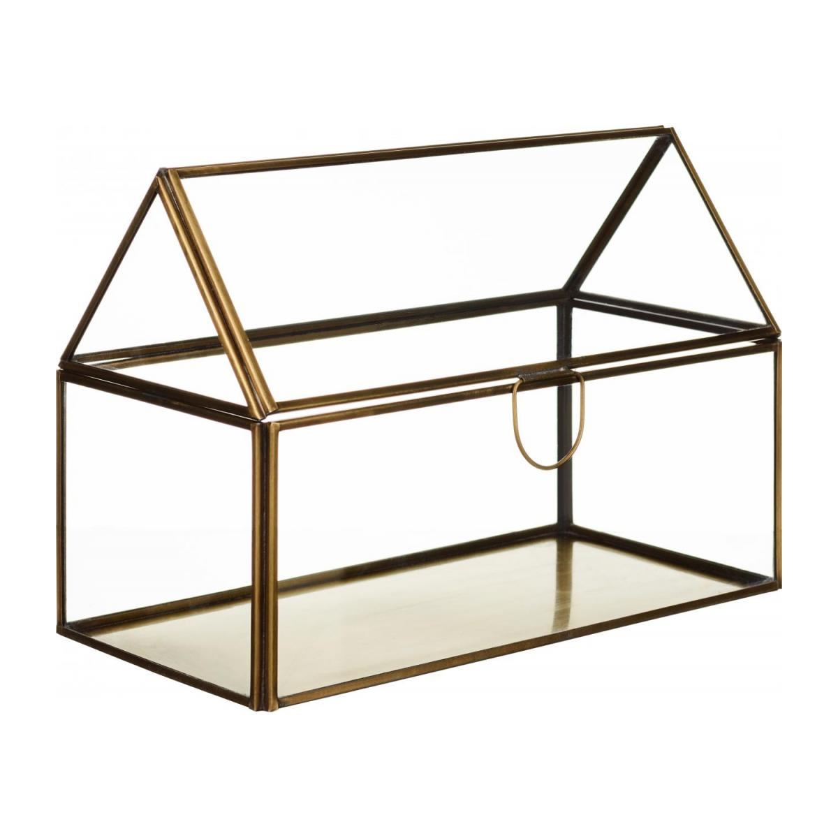 Glass Decorative Box with copper finish    n°1