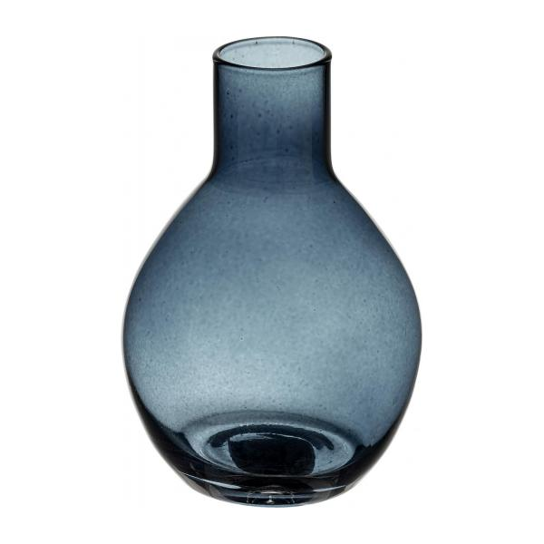 droplet vase f r eine einzige blume aus glas dunkelblau habitat. Black Bedroom Furniture Sets. Home Design Ideas