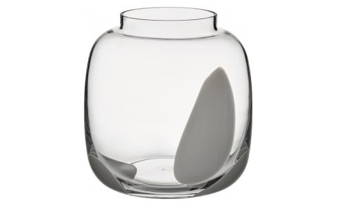 Vase Glass White Dots S