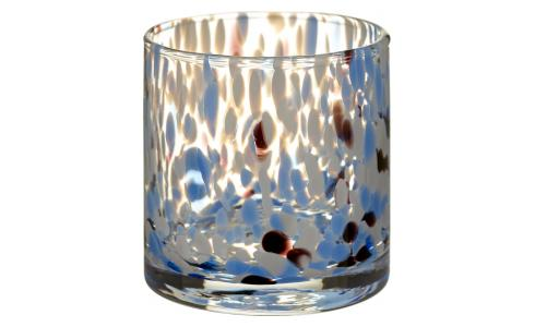 Glass Candle Holder Blue