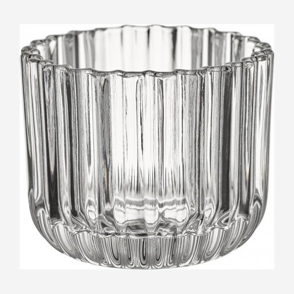 Glass Candle Holder Clear