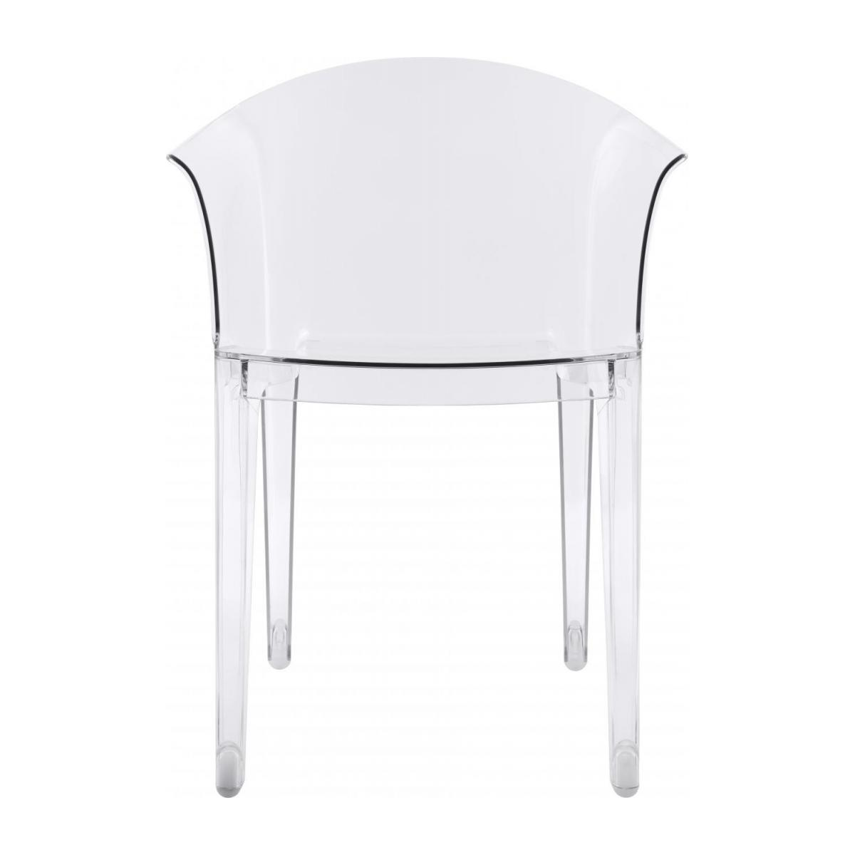 Transparent armchair in polycarbonate n°2