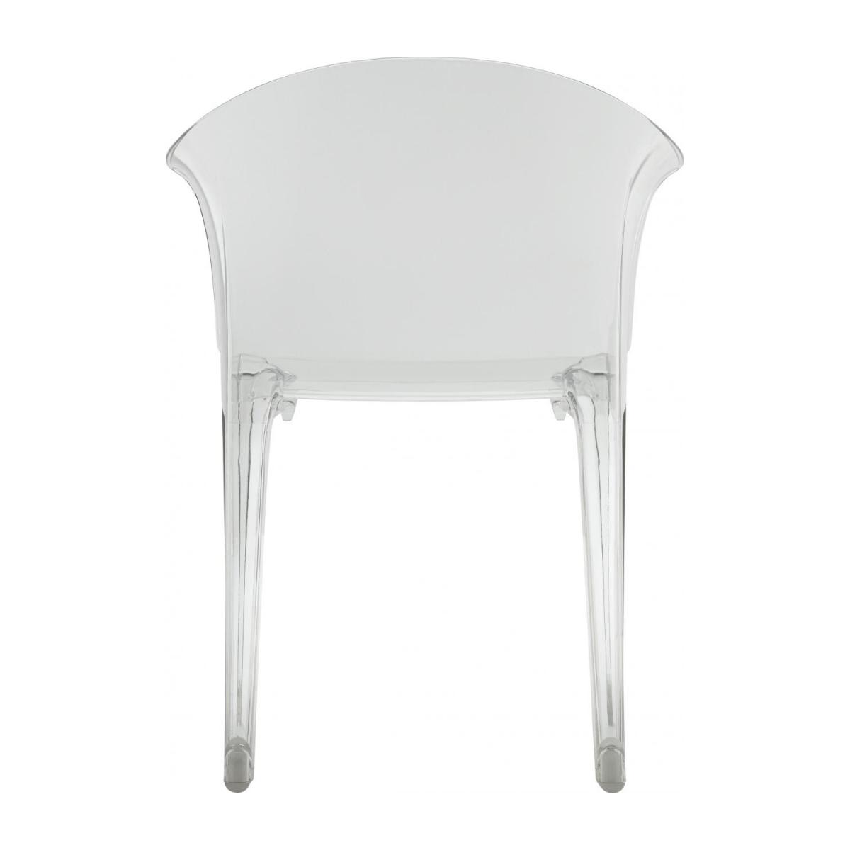 Transparent armchair in polycarbonate n°5