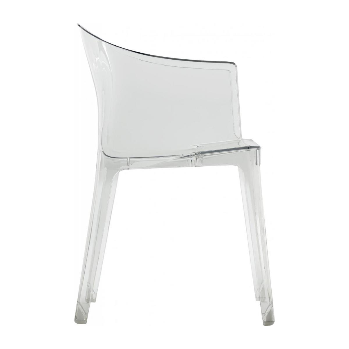 Transparent armchair in polycarbonate n°7