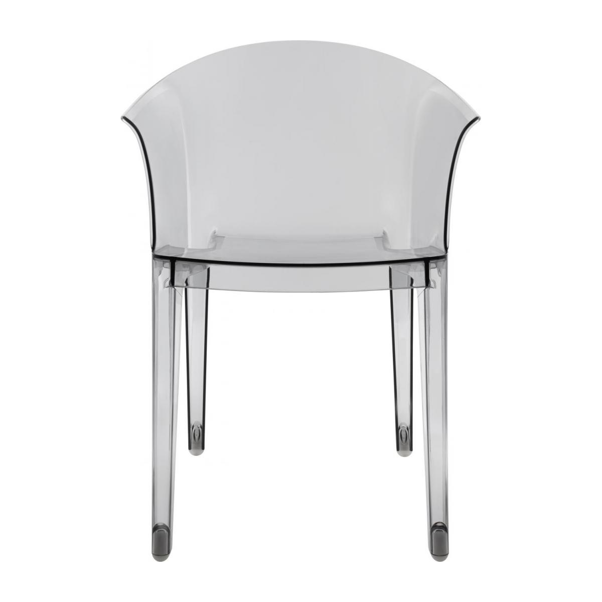 Smokey grey armchair in polycarbonate n°2